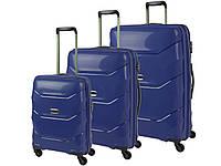 Комплект чемоданов PUCCINI  navy PP011 A, B, C, Майами набор багажа