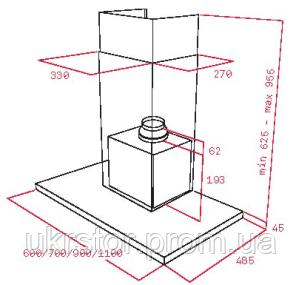 Кухонная вытяжка TEKA DH 680 T, сенсорна панель управління (чорне скло), фото 2