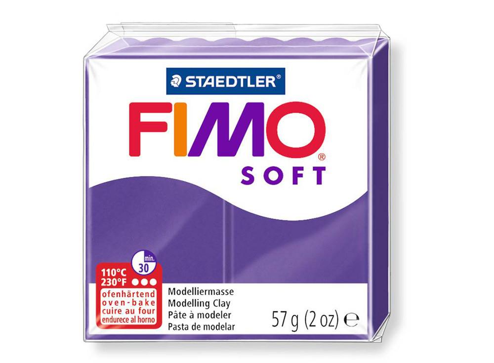 Полимерная глина пластика Фимо Софт Fimo Soft 56гр сливовый 63 - 56гр