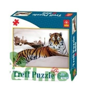 АКЦИЯ!!! Пазл Trefl 600 Тигр в снегах EQL 64182 Ч