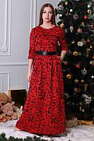 Оригинальное женское платье в модный принт