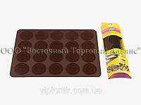 Силиконовый коврик для печенья Макаронс 40х30 см