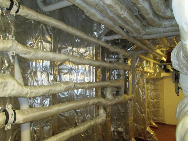 Теплоизоляционные работы корпуса и трубопроводов 42