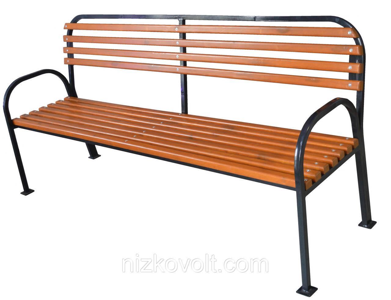 Скамейка парковая (садовая) деревянная 2000