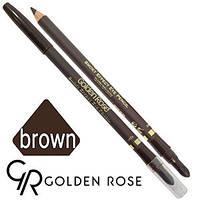 Golden Rose - Карандаш для глаз Smoky Effect EyePencil (dark brown матовый)