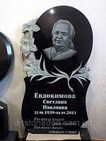 """Элитные памятники на могилу. Памятник из гранита """"Лилии"""""""
