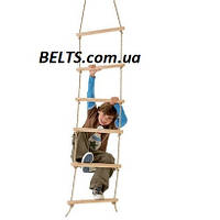Веревочная лестница с деревянными ступеньками