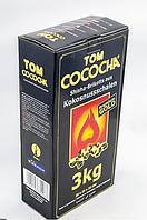 Кокосовый уголь Tom Cococha Gold 3кг  (3 по 72 шт), большой кубик