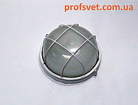 Светильник круглый с решеткой 60 вт Е27 белый, фото 1