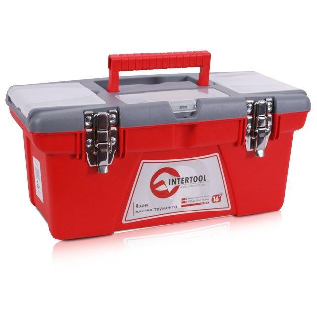 Ящик для инструментов с металлическими замками INTERTOOL BX-0516