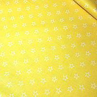 Хлопковая ткань с контуром звезды на желтом фоне №387