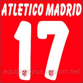 Нанесение номера и фамилии Atletico Madrid 16\17