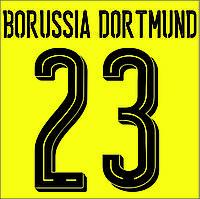 Нанесение номера и фамилии Borussia Dortmund 16\17