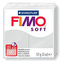 Полимерная глина пластика Фимо Софт Fimo Soft серый дельфин 80 - 56гр