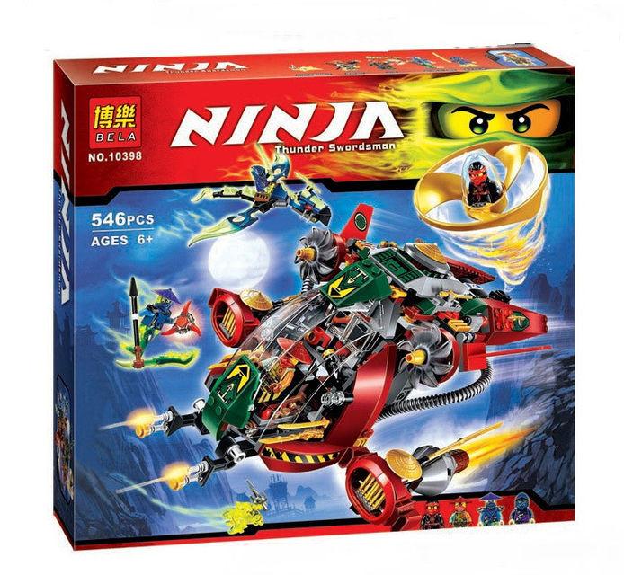 Конструктор  10398 Ninjago / ниндзяго Ниндзя NINJA Летательный аппарат
