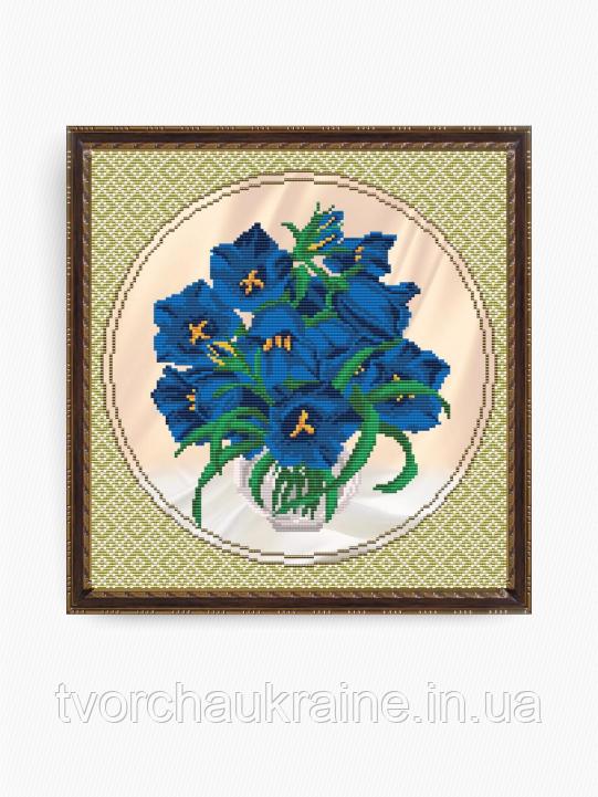 Авторская канва для вышивки бисером «Колокольчики»