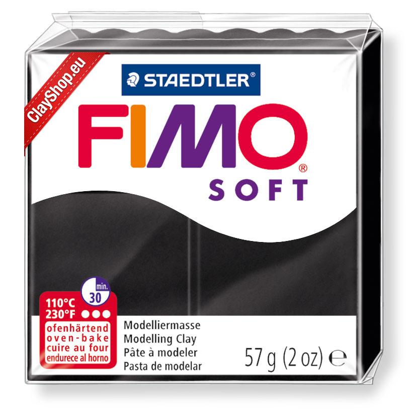 Полимерная глина пластика Фимо Софт Fimo Soft черный 9 - 56гр