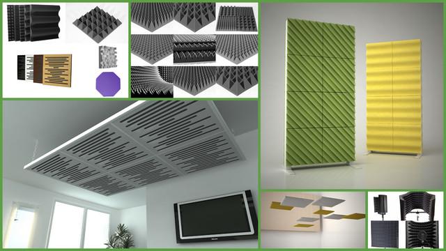 Акустические материалы ,акустические потолки,акустический поролон