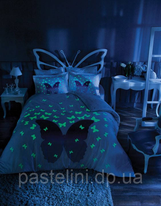 TAC сатин Fluorescent евро  Glow in the dark lila