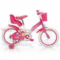 Детский велосипед двухколесный барби салатовый 18 дюймов