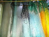 Сеть 3м*100м  плетеный пореж сетка трехстенка из лески белая Ø32, 35