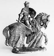 Оловянная миниатюра. Оловянный солдатик. Английский рыцарь Оуэн Глиндор. Принц Уэльскиий