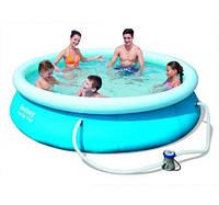 Крепкий надувной бассейн 305х76 см +фильтр +насос!