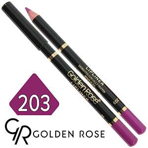 Golden Rose - Карандаш для губ Lip Liner Тон №203 cherry violet матовый