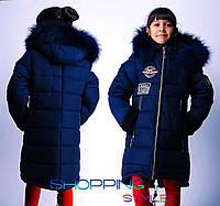 Зимнее пальто для девочки 6-13 лет