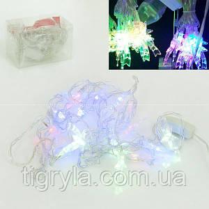 Волшебные звездочки - новогодняя гирлянда светодиодная разноцветные лампочки, 5 метров Лед декор витрин