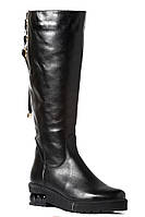 Сапоги женские кожаные на утолщенной подошве от производителя