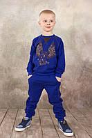 Детские ультрамодные спортивные брюки для мальчика 3-8 лет ТМ Модный Карапуз Синий
