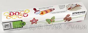 Скалка для раскатки теста с формочками для фигурного печенья Roll and Store Pin, фото 2
