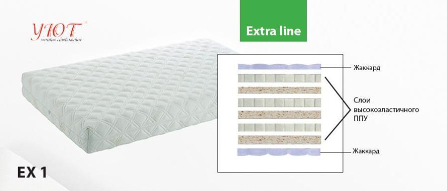 Ортопедический матрас серия Extra Line EX1  1.40х1.9-2 м