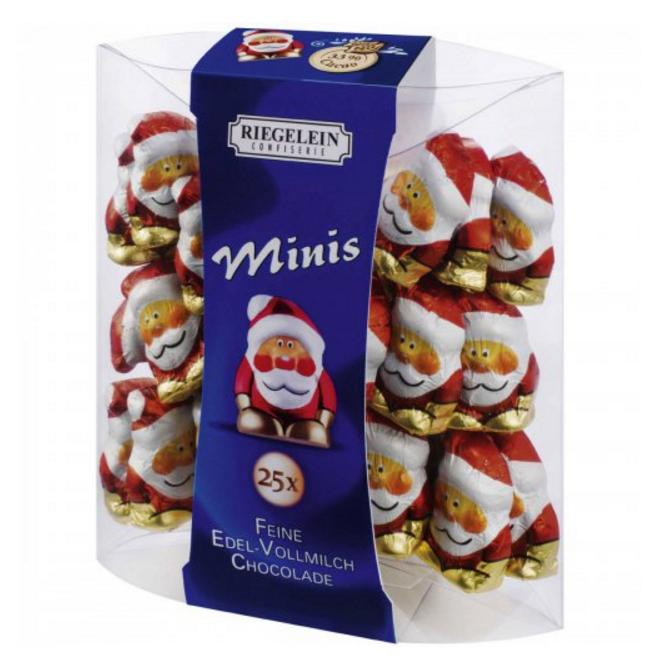 Шоколадные фигурки санта Riegelein Chocolade Minis, 100 г. - Продукты из Италии - интернет магазин «Market IT» в Львове