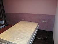 Кровать для спальни с мягким изголовьем по индивидуальным размерам купить в Украине
