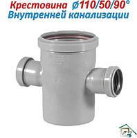 Крестовина для внутренней канализации ⍉ 110\50\90°