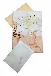 Сменная постель Twins Comfort Жирафы С-024 beige