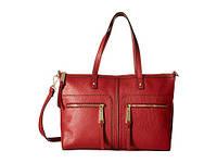 Кожаная сумка Tommy Hilfiger Satchel