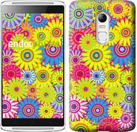 """Чехол на Lenovo Vibe X3 Разноцветные цветы """"1841u-155"""""""