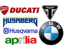 Aprilia, BMW, Ducati, Husqvarna, Husaberg, Triumph