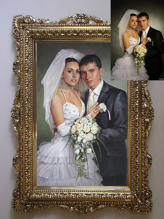 Портреты маслом на холсте - Прекрасный вариант оригинального и незабываемого подарка!