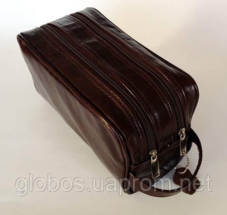 Косметичка - несессор мужской, кожа GLOBOS 03-14 продажа, фото 2
