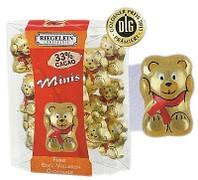 Шоколадные фигурки мишки Riegelein Chocolade Minis, 100 г.