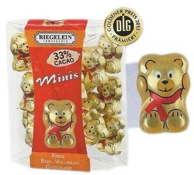 Шоколадные фигурки мишки Riegelein Chocolade Minis, 100 г., фото 1