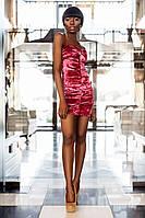 Роскошное Бархатное Платье с Открытыми Плечами Пурпурное S-L