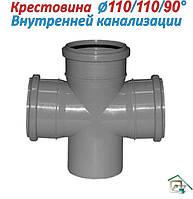 Крестовина для внутренней канализации ⍉ 110\110\90°