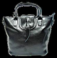 Превосходная женская сумка из натуральной кожи черного цвета FHH-001119