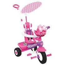 Складной трехколесный велосипед Минни Маус