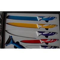 Набор ножей c керамическим покрытием 5шт + экономка